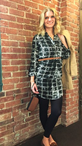 Reloved: Marc Jacob trench, feathers shirt dress