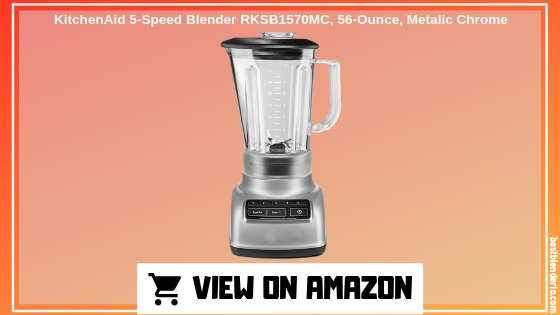 KitchenAid 5-Speed Blender RKSB1570MC, 56-Ounce, Metallic Chrome