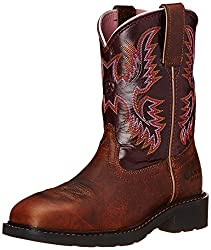 Womens Pull-On Steel Toe Work Boots