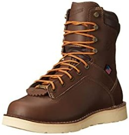Danner Men's Quarry USA 8 Inch Alloy Toe Wedge Work Boots