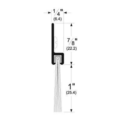 Pemko 18100_NB Brush Seal/180 Degree Aluminum Retainer