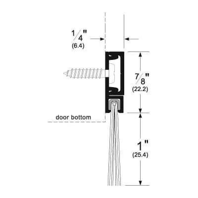 Pemko 293100_NB (DB) Brush Seal/180 Degree Concealed Fastener Retainer