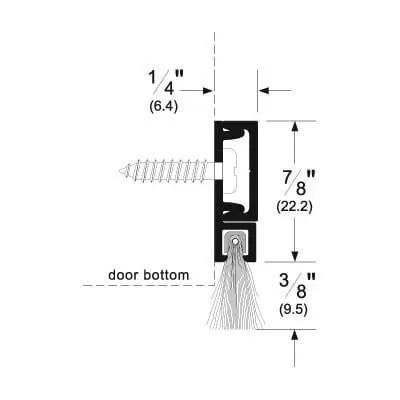 Pemko 29324_SB Brush Seal/180 Degree Concealed Fastener Retainer