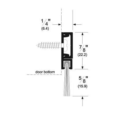 Pemko 29326_NB (DB) Brush Seal/180 Degree Concealed Fastener Retainer