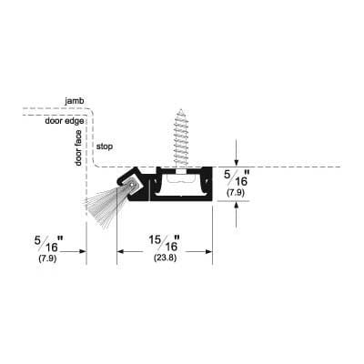 Pemko 29344_SB (PG) Brush Seal/45 Degree Concealed Fastener Retainer