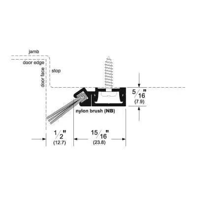 Pemko 29346_NB Brush Seal/45 Degree Concealed Fastener Retainer