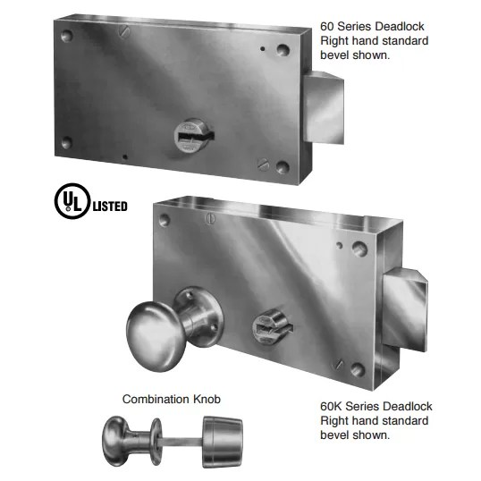 60/60K Latch and Key Operated Deadlocks Mechanical Locks
