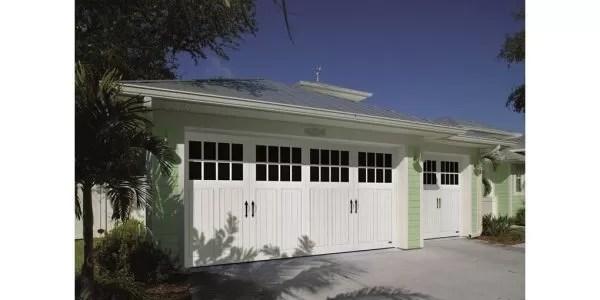 "Resiliant Charleston 2"" vinyl garage doors"