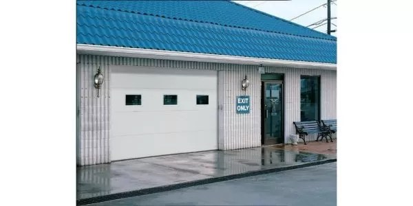 Medium-duty insulated steel commercial doors
