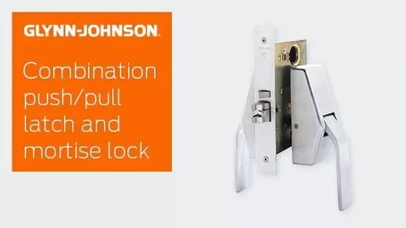 Combination Push/Pull Latch and Mortise Lock