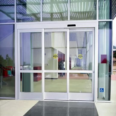 Besam SL500 Telescopic with transom - overhead concealed