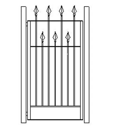 pedestrian gates icgg16 1800