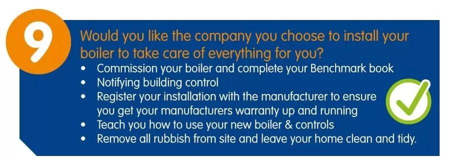New Boiler Top ten tips
