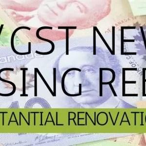 GST/HST new housing rebate