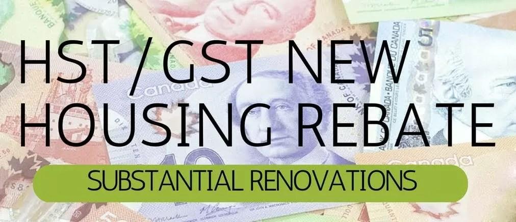 GST HST new housing rebate