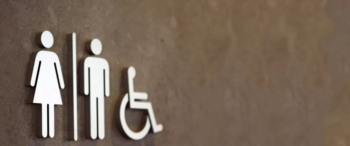 disability washroom door
