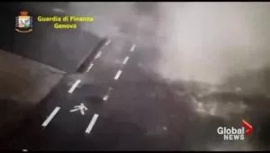 Italy police release security camera footage of fatal bridge collapse