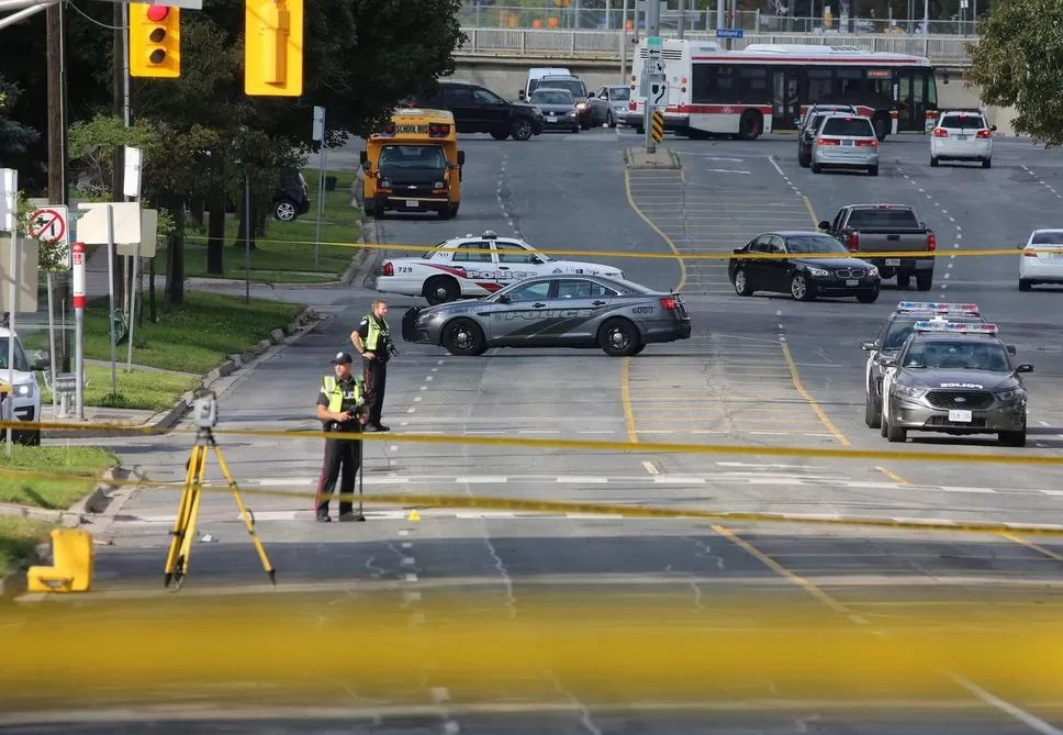 Police say a 61-year-old man was crossing St. Clair Ave. E. at Jeanette St. shortly after 7 a.m. when he was hit. The driver fled the scene.