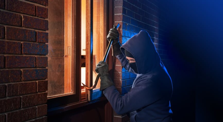 Over half of house burglaries in the UK happen when someone is at home