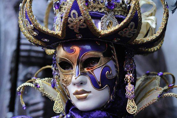 Parade performer in full festival costume