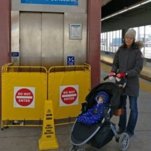 Closed LRT station elevator frustrates Edmonton parents with stroller - Edmonton