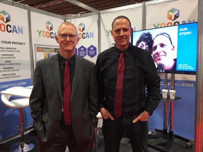 Yoocanfind.com Co-founders, Moshe Gaon & Yoav Gaon, at Naidex 2019 conference