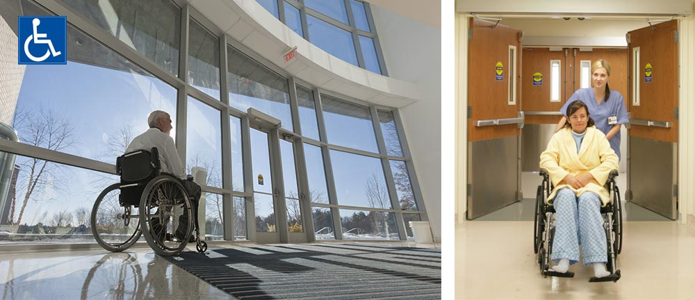 Why Does Your Office Building Need Automatic Doors And Universal Washrooms?