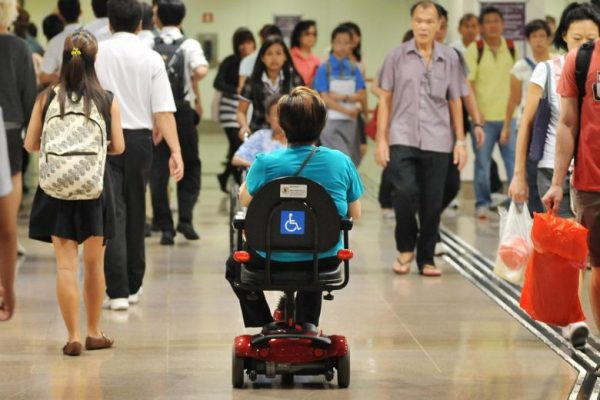 Buildings will be required to provide larger accessible toilets on every floor, so that motorised wheelchairs can manoeuvre. PHOTO: ST FILE