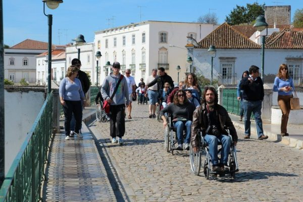 A person in a wheelchair in portugal