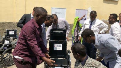 Turkey's state-run aid agency continues to touch people's lives in Africa, providing wheelchairs for disabled