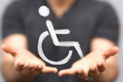 Accessibility symbol of a wheelchair