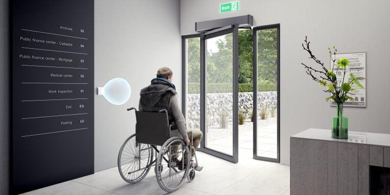 hands free door opener disabled