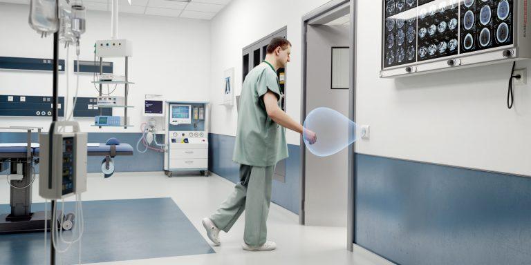 no touch door opener hospital