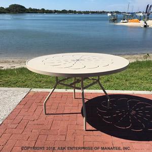 ptc36 36 inch round aluminum patio table