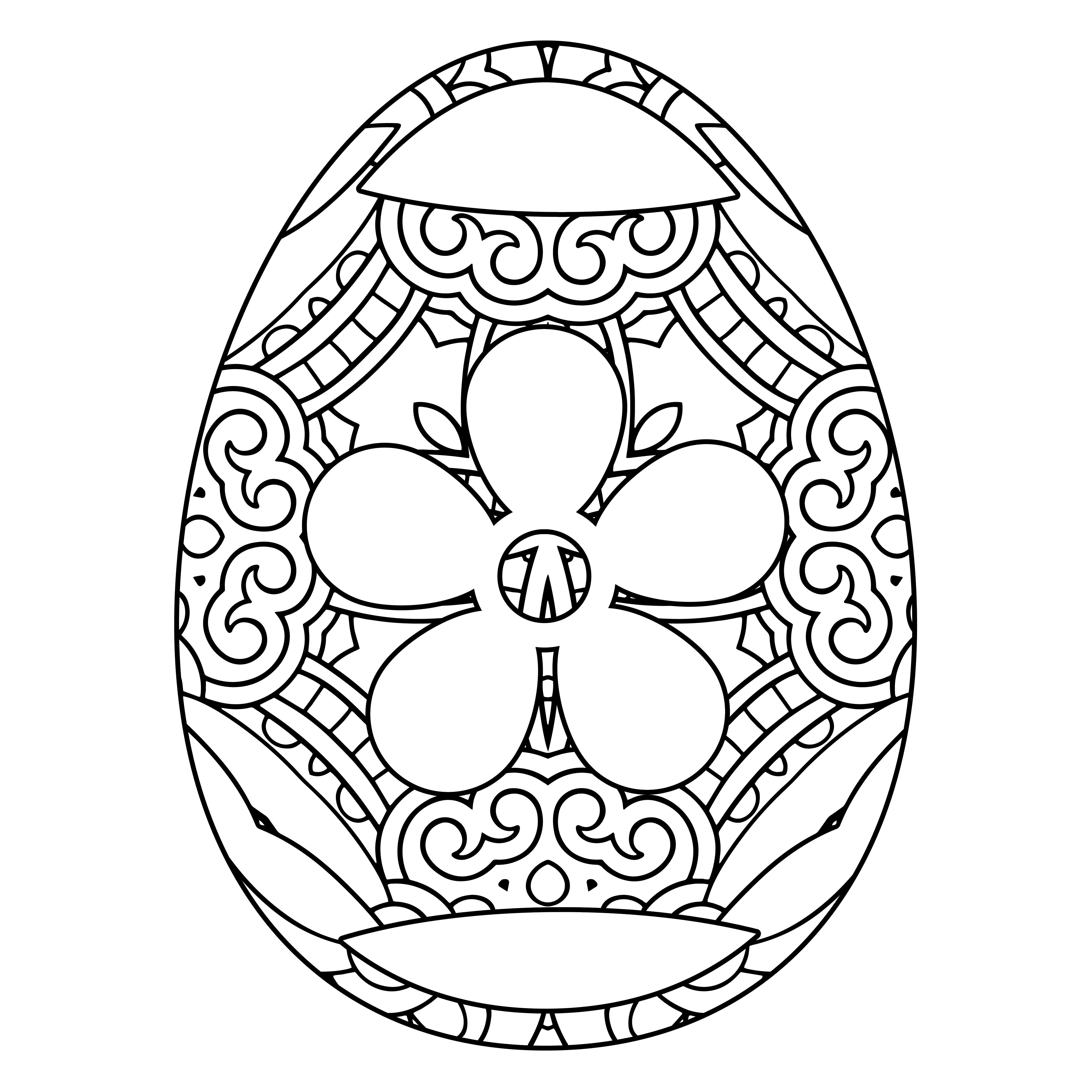 101 Elegant Eggs Coloring Designs