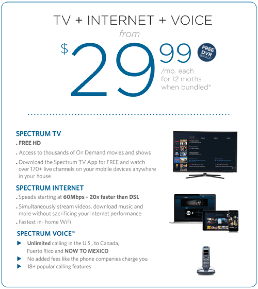 Charter Spectrum Cable TV