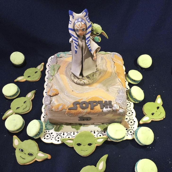 Cute Ahsoka Tano Cake