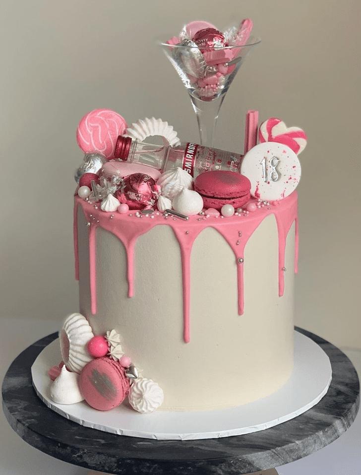 Beauteous Alcohol Cake