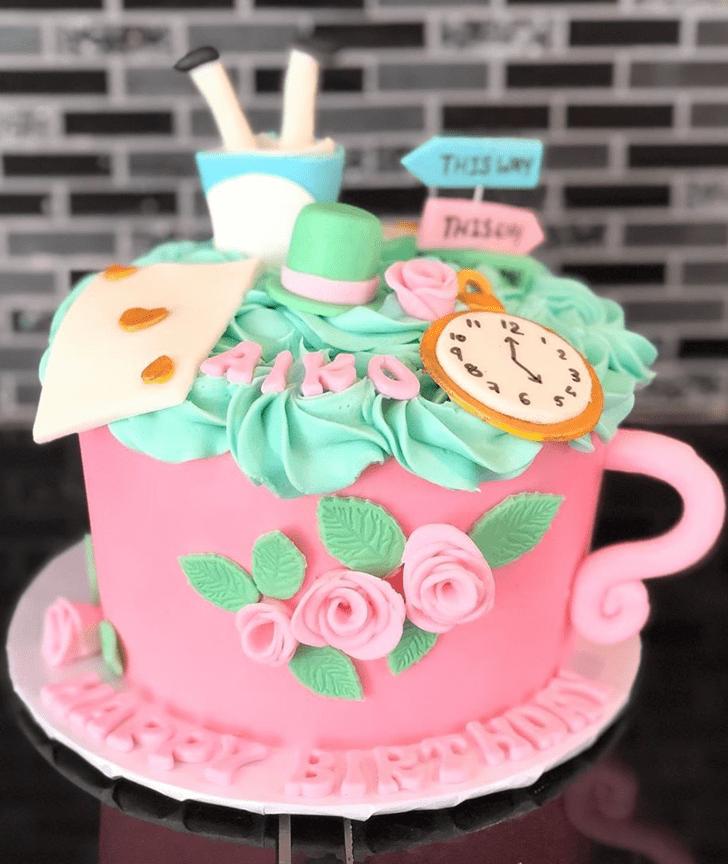 Angelic Alice in Wonderland Cake