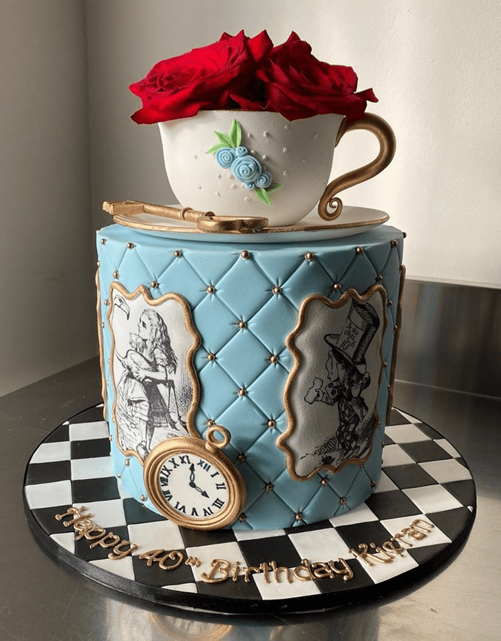 Appealing Alice in Wonderland Cake
