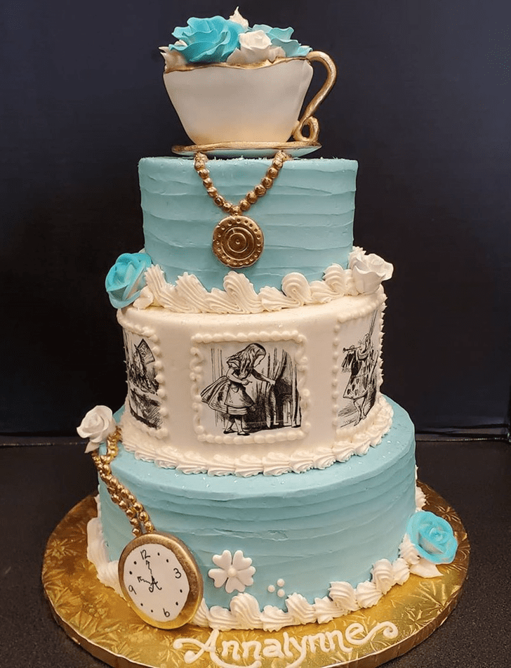 Bewitching Alice in Wonderland Cake