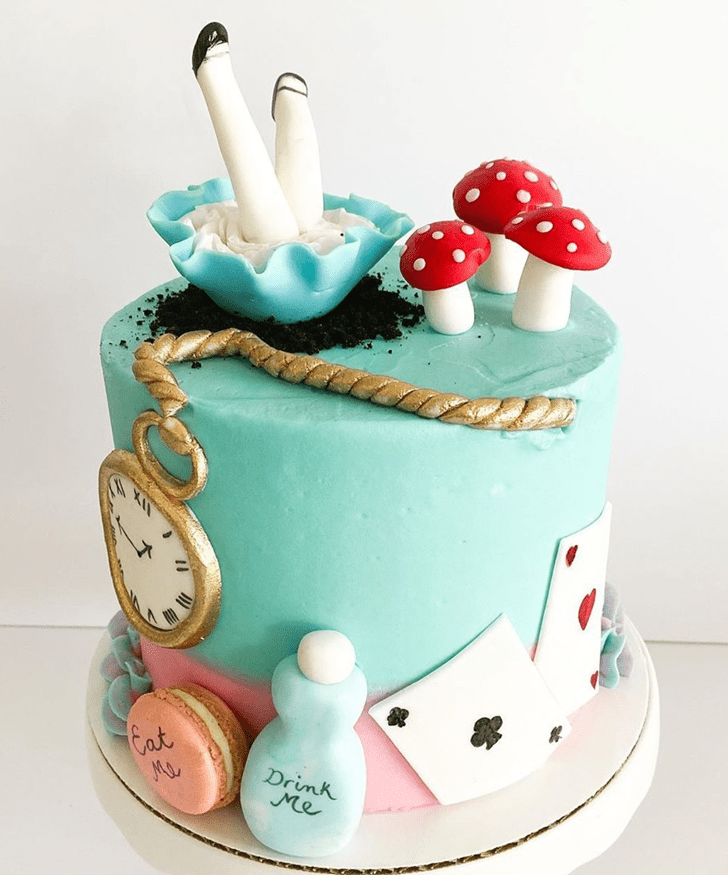 Charming Alice in Wonderland Cake