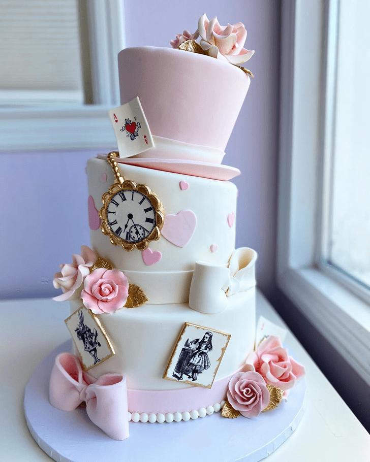 Classy Alice in Wonderland Cake