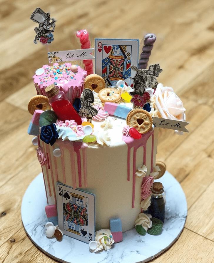 Dazzling Alice in Wonderland Cake