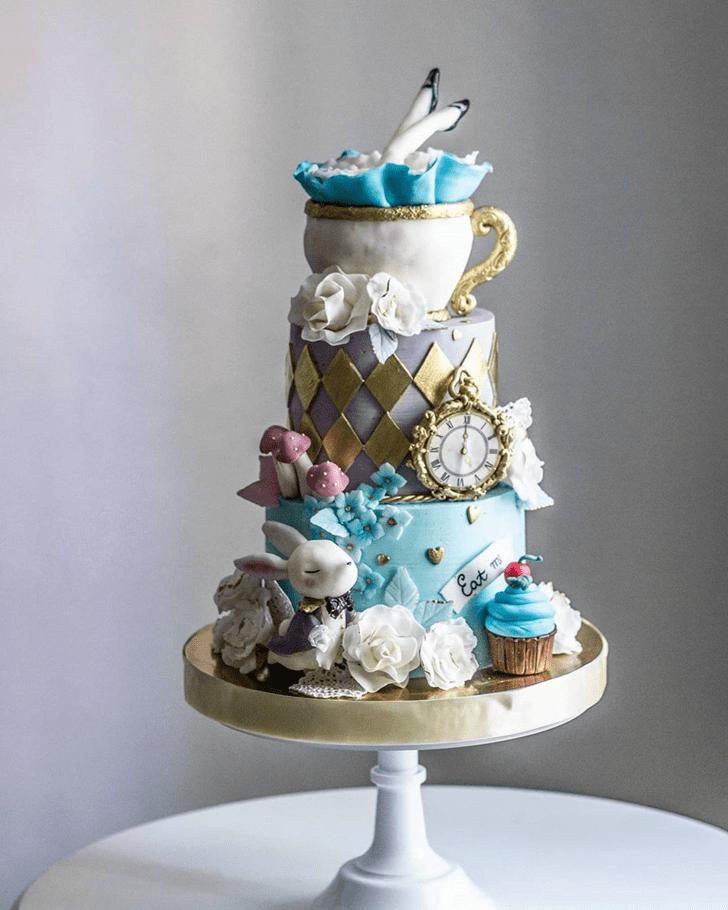 Enthralling Alice in Wonderland Cake