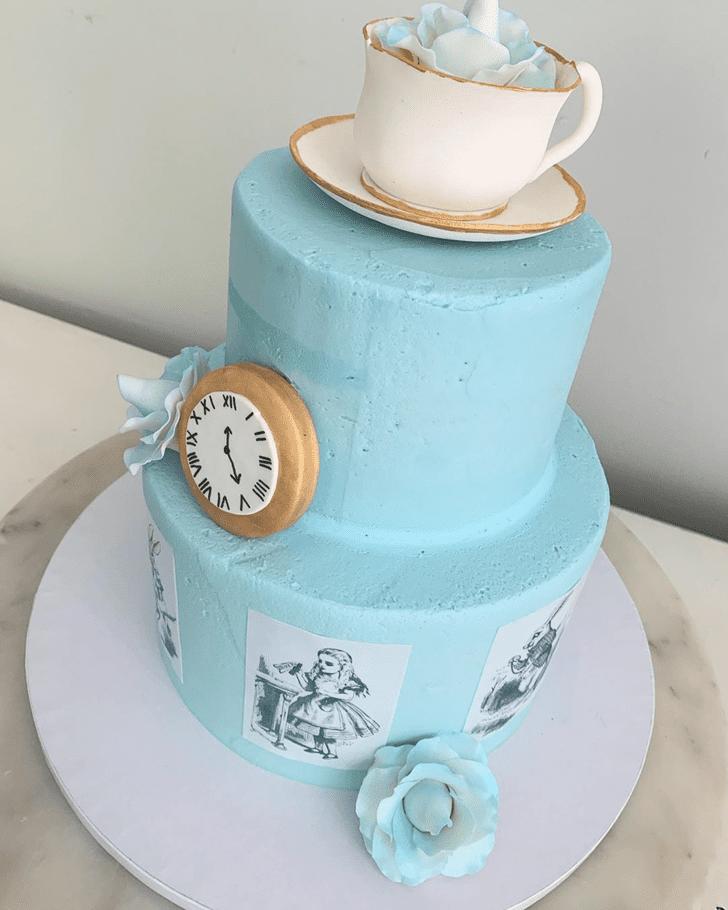 Exquisite Alice in Wonderland Cake