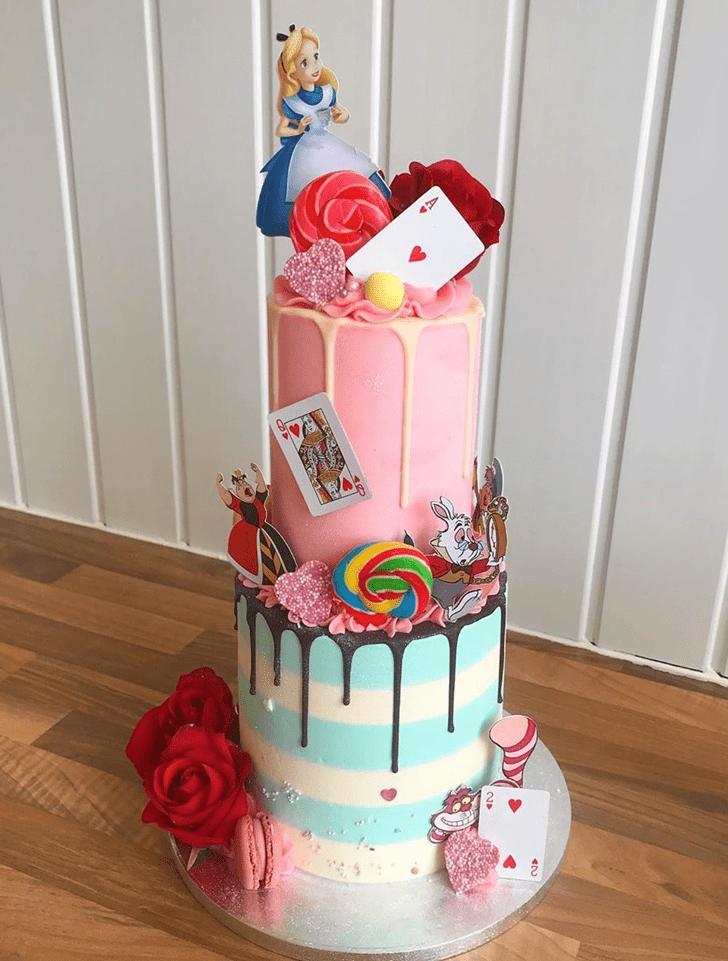 Fair Alice in Wonderland Cake
