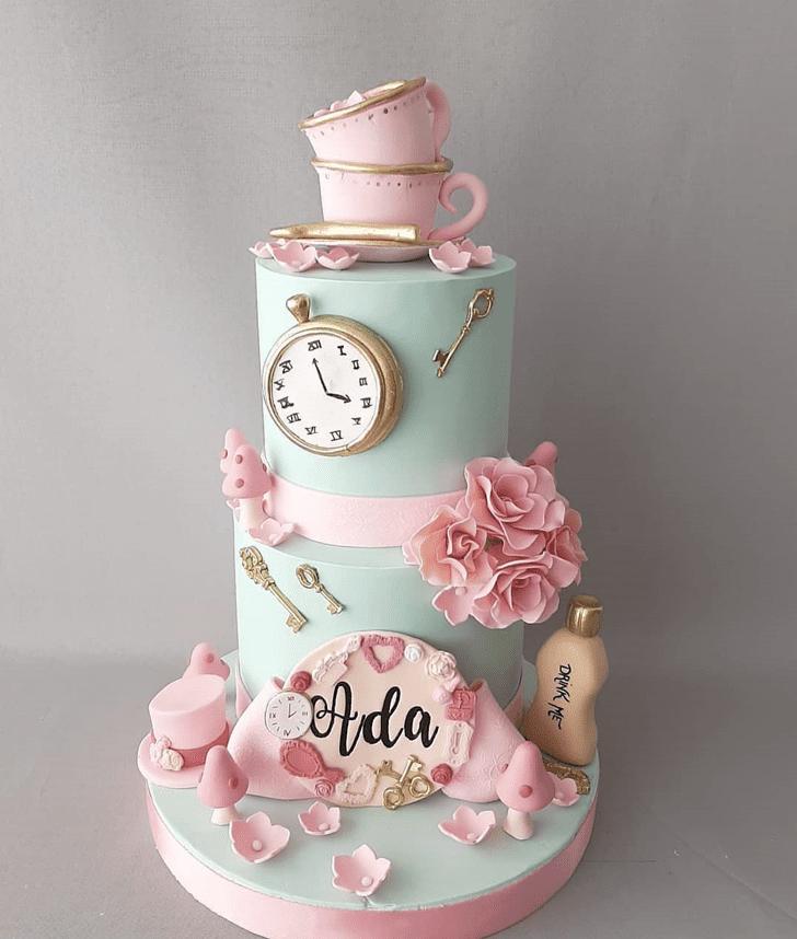 Graceful Alice in Wonderland Cake