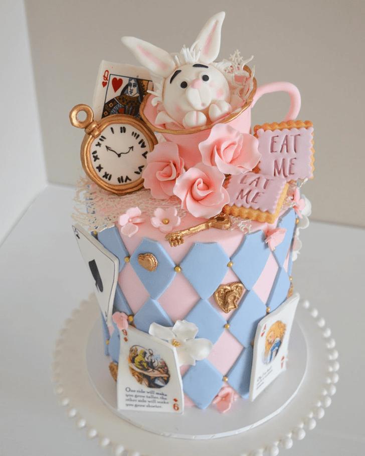Handsome Alice in Wonderland Cake