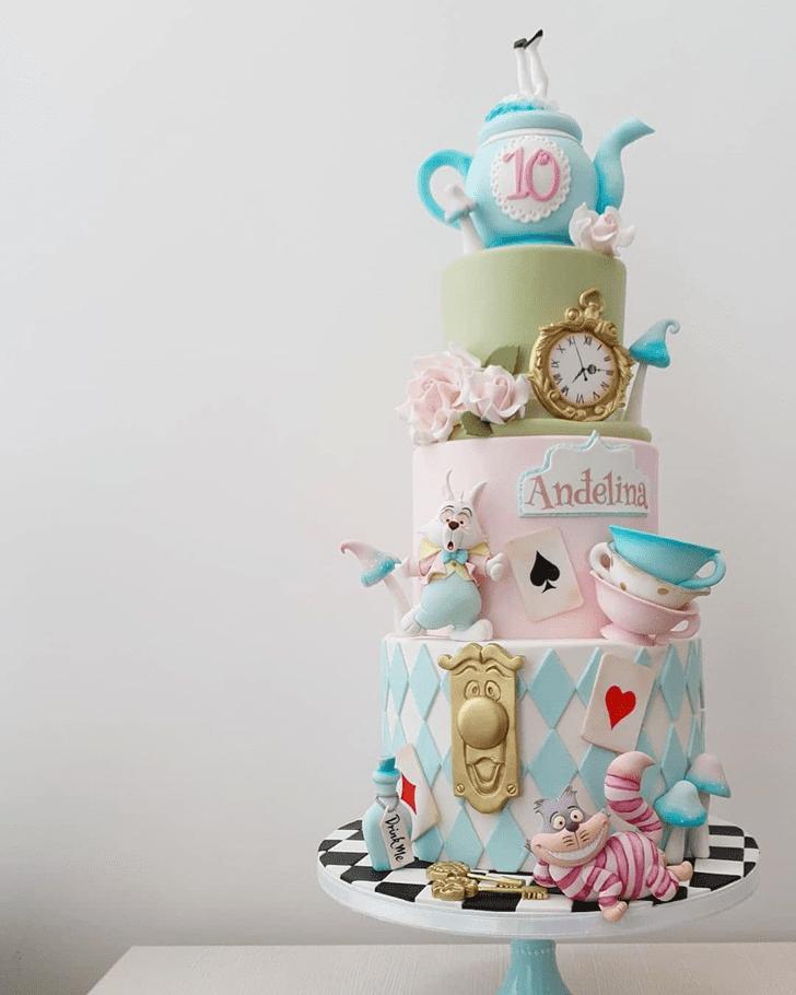 Refined Alice in Wonderland Cake